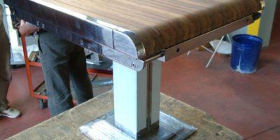 tavolo allungabile in inox e tek (1)